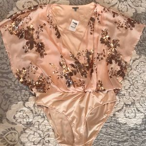 NEW gold sequin body suit